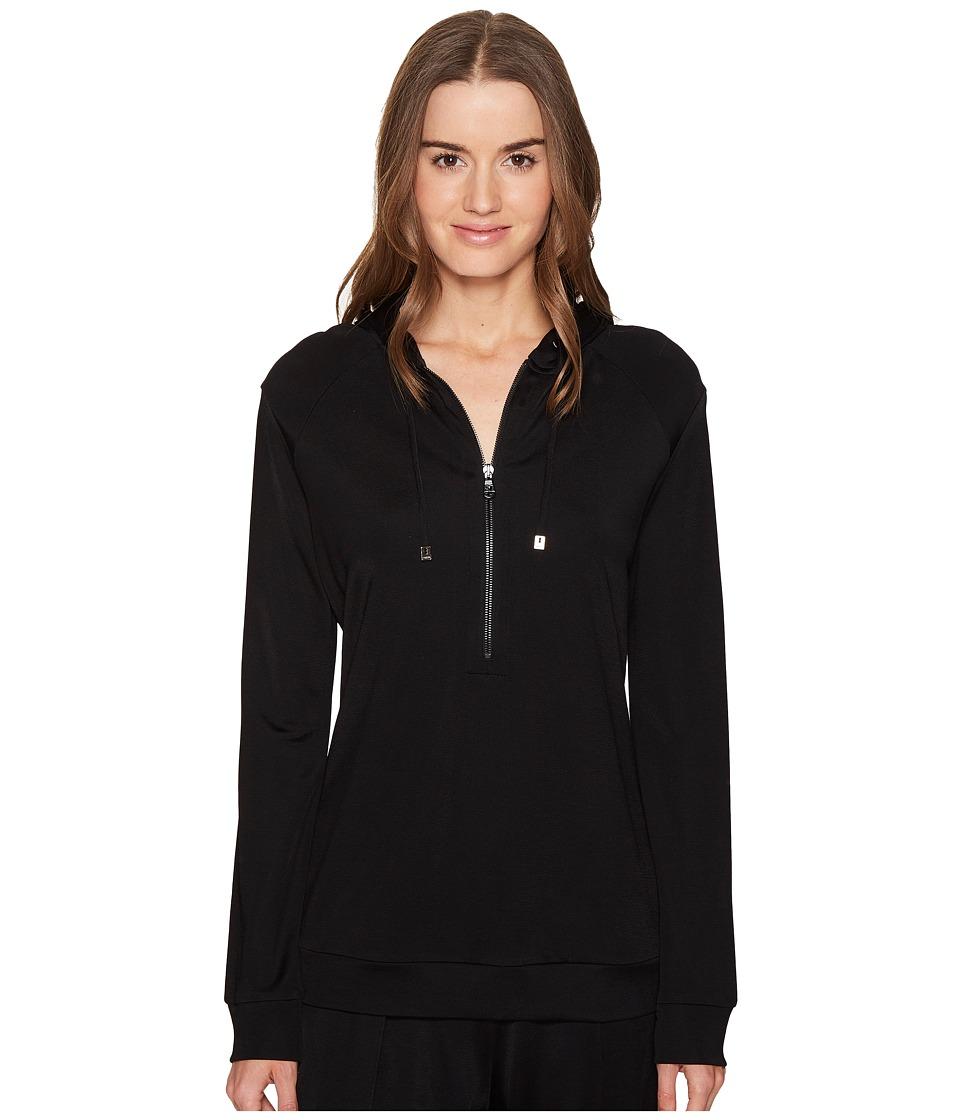 Versace - Tute Intimo Giubbino Intimo Hoodie w/ Medusa (Nero) Women's Sweatshirt