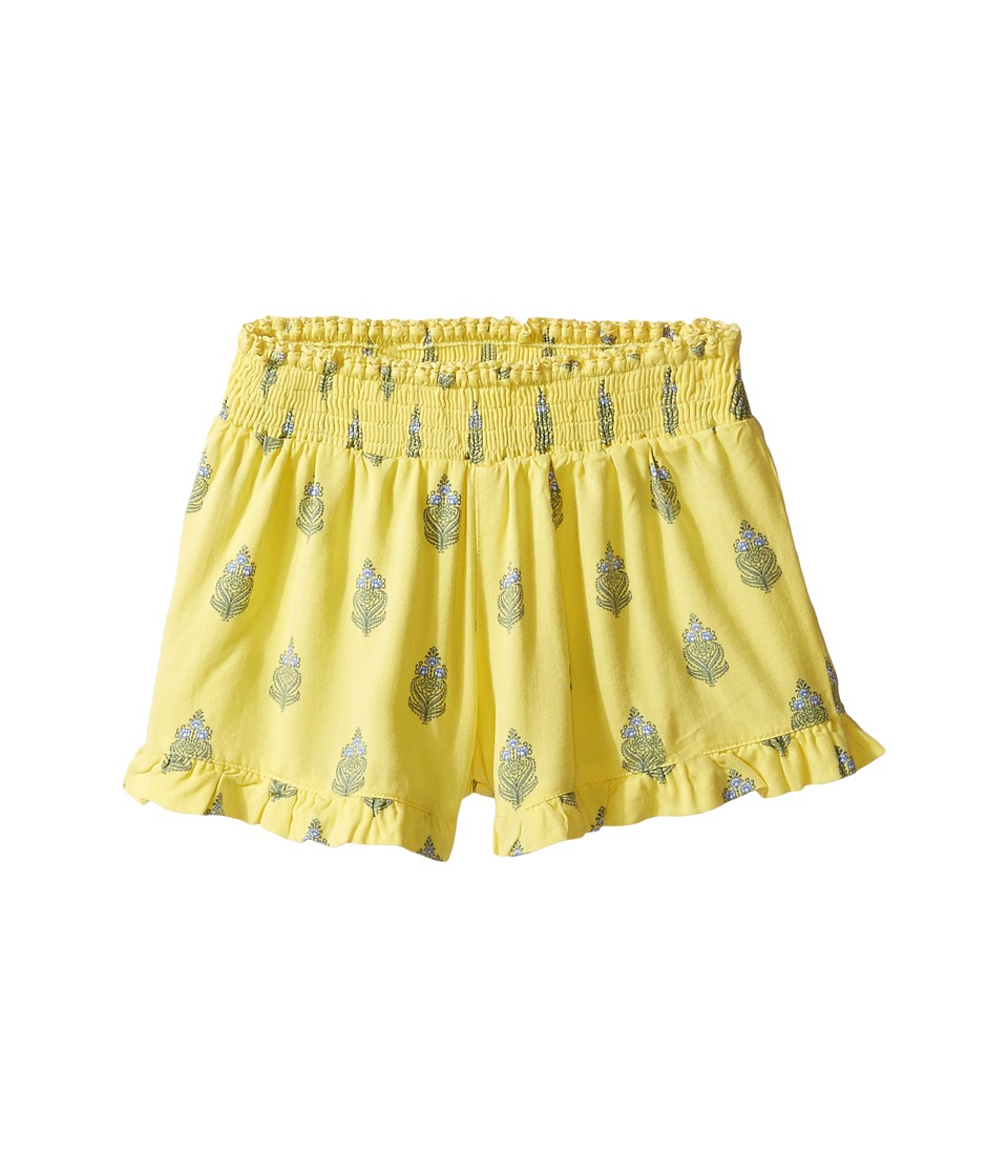 O'Neill Kids - Devon Woven Shorts (Toddler/Little Kids) (Yellow Cream) Girl's Shorts