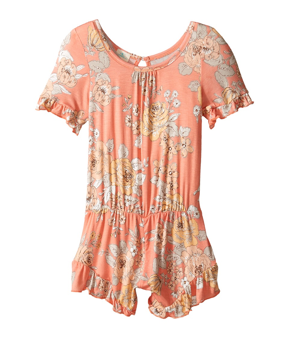 O'Neill Kids - Sunnie Knit Romper (Toddler/Little Kids) (Fusion Coral) Girl's Jumpsuit & Rompers One Piece