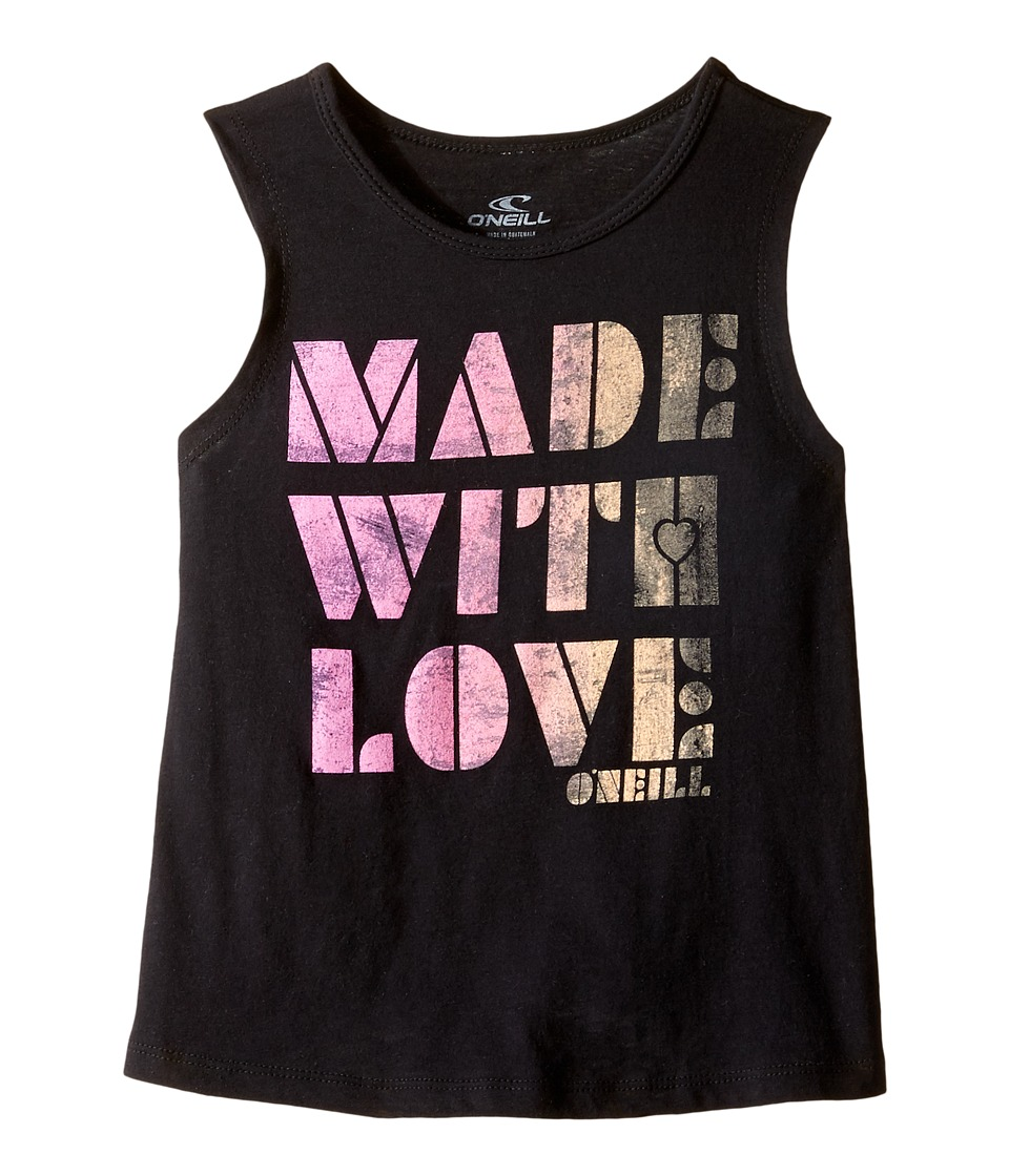 O'Neill Kids - Made With Love Rylee Tank Top (Toddler/Little Kids) (Black) Girl's Sleeveless