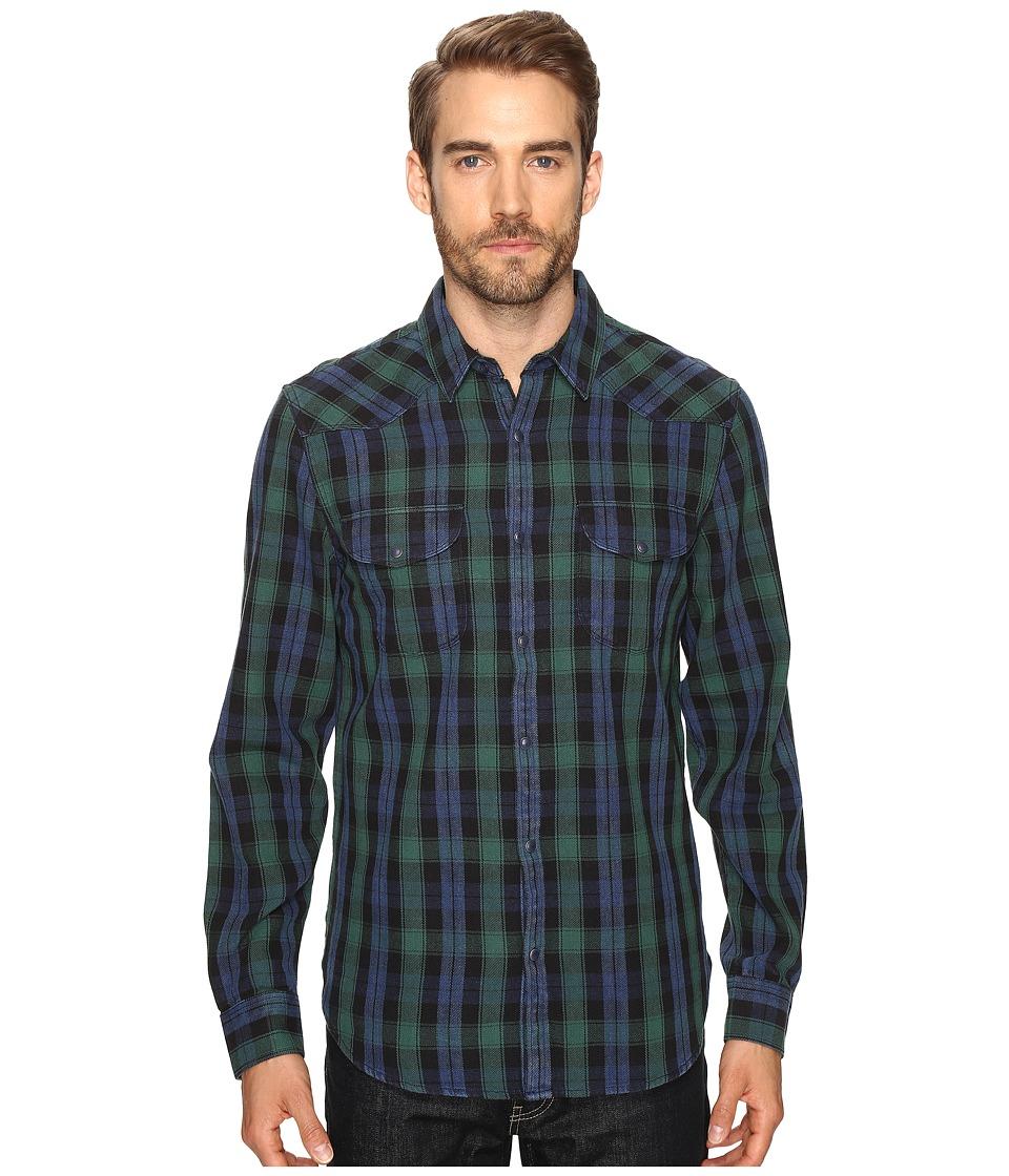 Lucky Brand - Verde Santa Fe Western Shirt (Green/Black/Blue) Men's Clothing