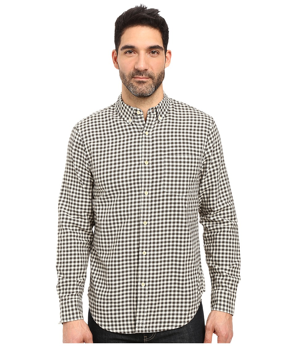 Lucky Brand - Smart Military Shirt (Black/White) Men's Clothing