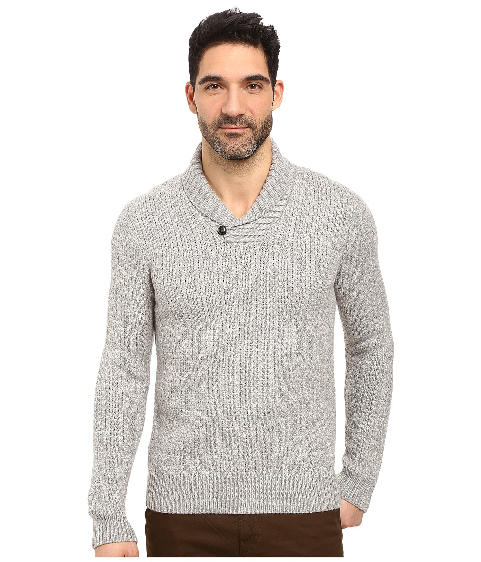 Lucky Brand - Mountainia Marled Shawl Sweater (Heather Grey) Men's Sweater