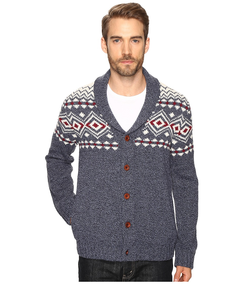 Lucky Brand - Lambswool Lodge Cardigan (Multi) Men's Sweater
