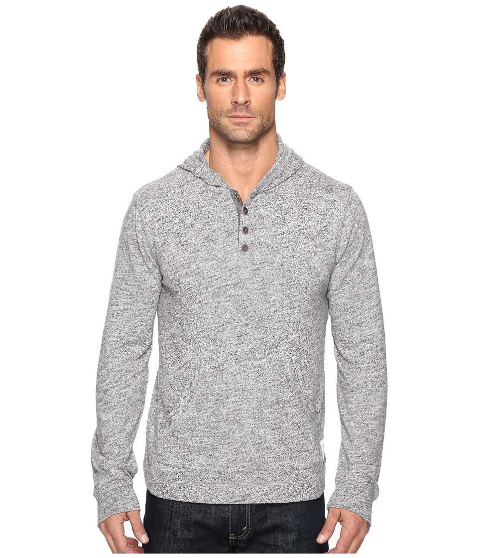 Lucky Brand - Halfmoon Brushed Hoodley (Grey Heather) Men's Clothing