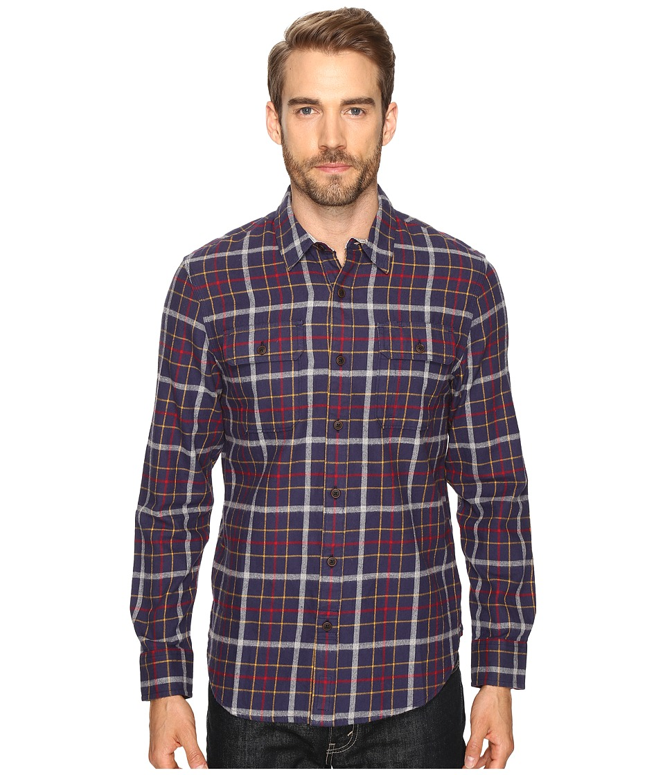 Lucky Brand Miter Two-Pocket Shirt (Navy/Heather/Red) Men