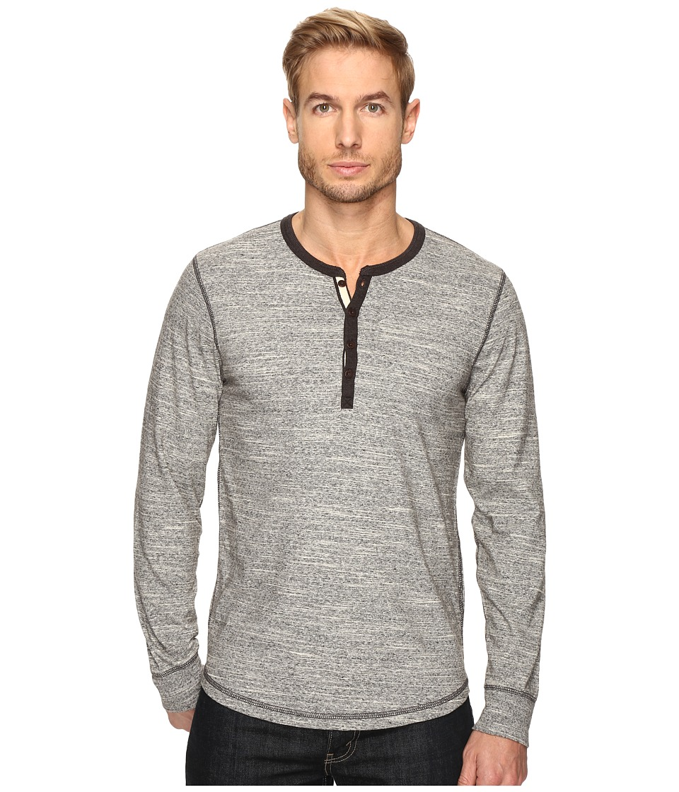 Lucky Brand - Highland Henley (Heather Grey) Men's Clothing