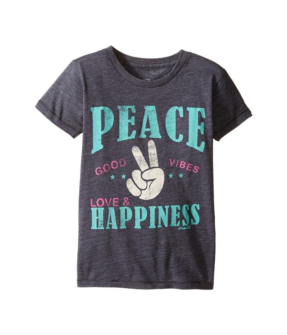 O'Neill Kids - Happy Vibes Peekaboo Tee (Toddler/Little Kids) (Periscope) Girl's T Shirt