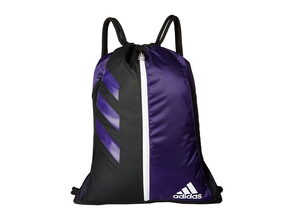 adidas - Team Issue Sackpack (Collegiate Purple/Black/White) Bags