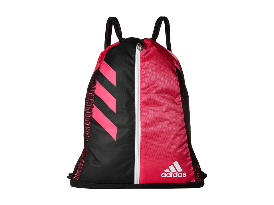 adidas - Team Issue Sackpack (Shock Pink/Black/White) Bags