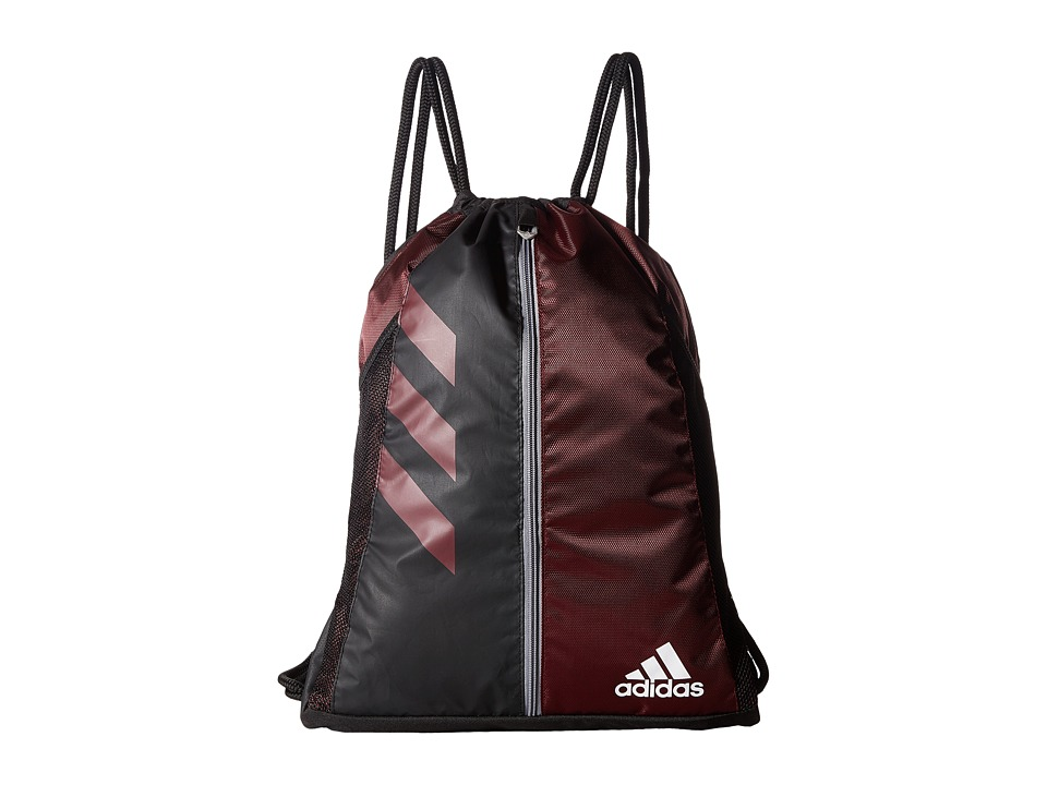 adidas - Team Issue Sackpack (Light Maroon/Black) Bags