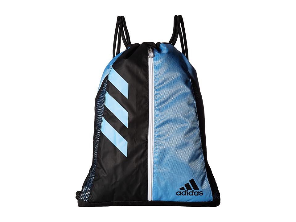 adidas - Team Issue Sackpack (Collegiate Light Blue/Black/White) Bags