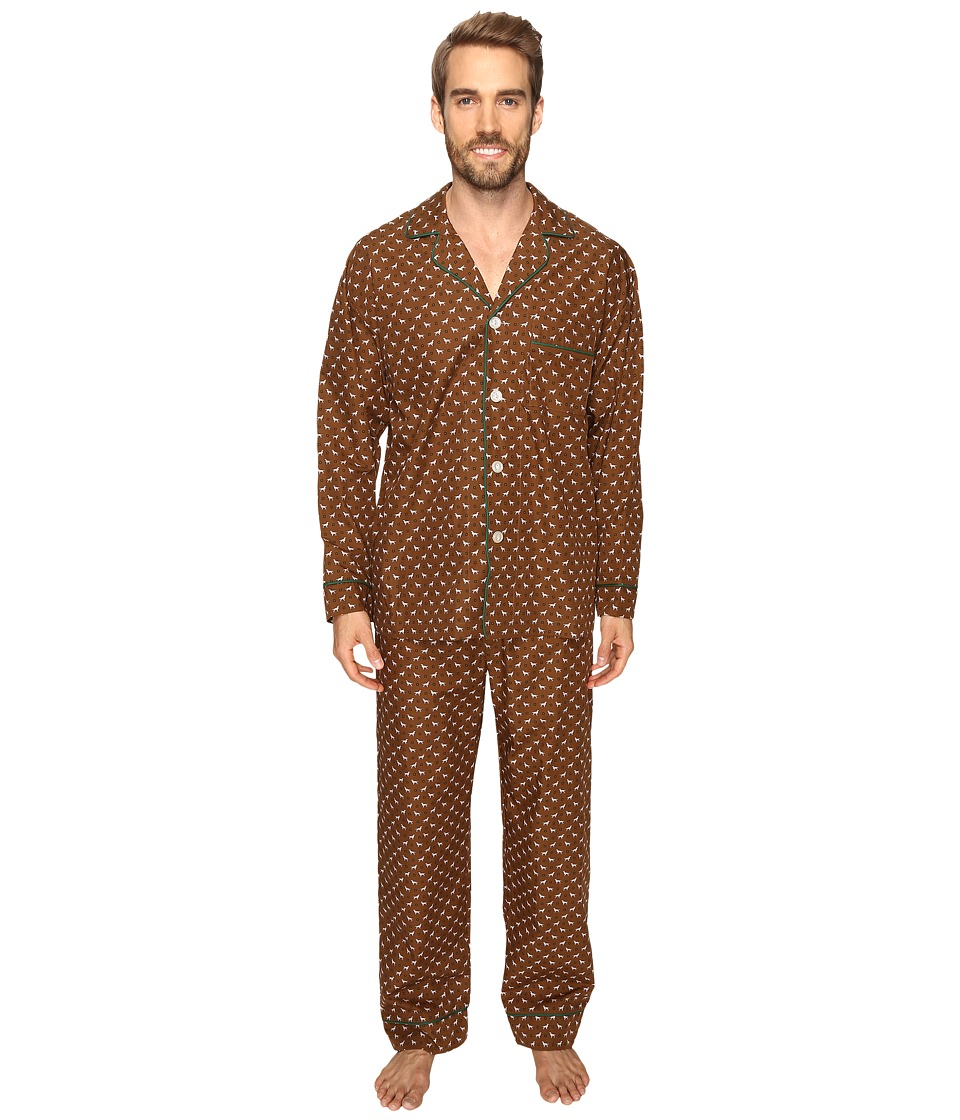 BedHead - Long Sleeve Classic Pajama Set (Beagle Foulard) Men's Pajama Sets