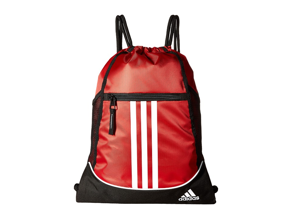 adidas - Alliance II Sackpack (Power Red/Black/White) Bags