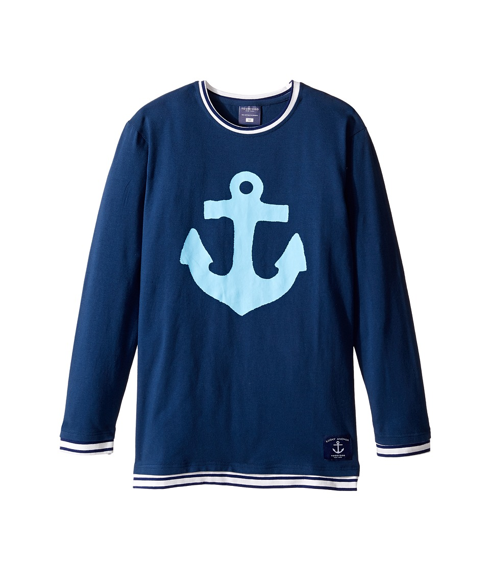 Toobydoo - Anchor Light Tee (Infant/Toddler/Little Kids/Big Kids) (Blue/Blue/White) Boy's T Shirt