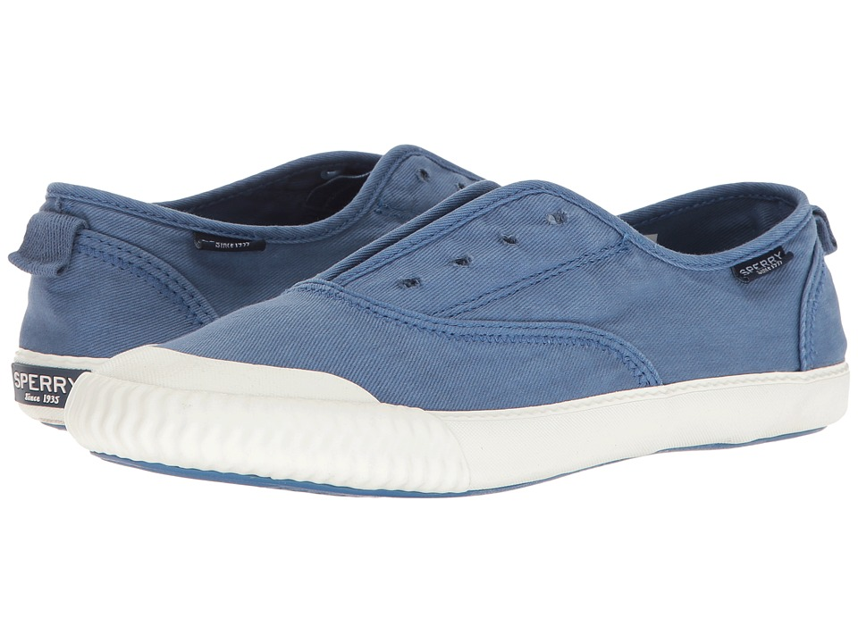 Sperry - Sayel Clew Washed Canvas (Cobalt Blue) Women's Slip on Shoes