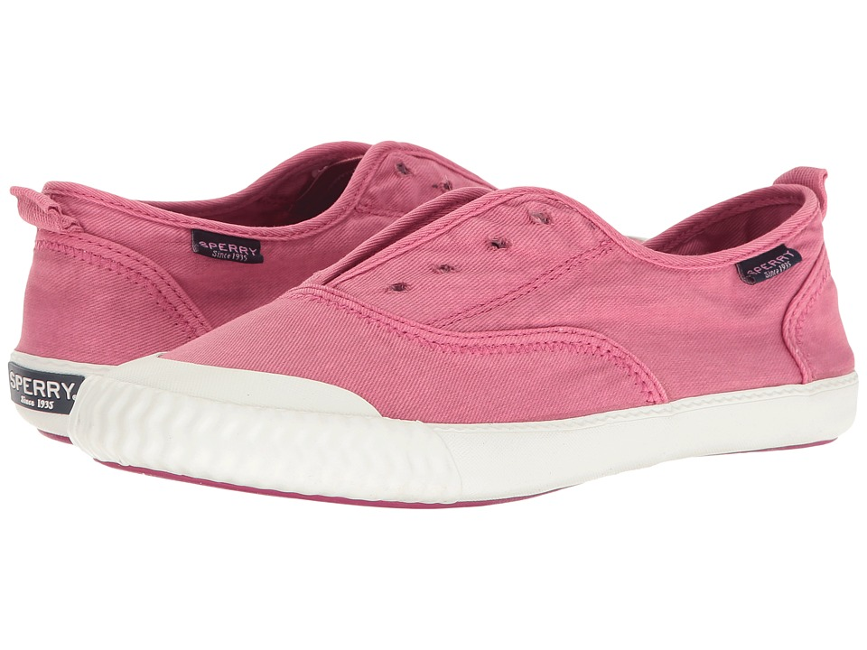 Sperry - Sayel Clew Washed Canvas (Berry Pink) Women's Slip on Shoes