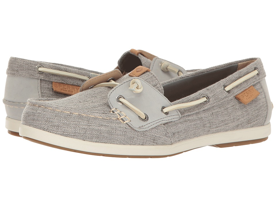 Sperry - Coil Ivy Canvas (Grey) Women's Slip on Shoes
