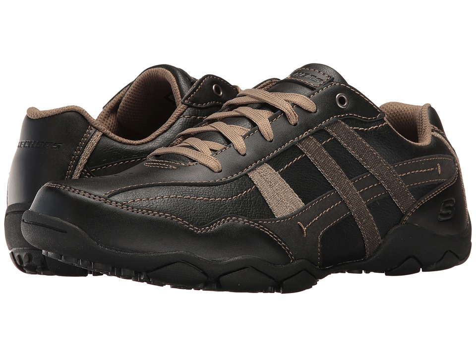 SKECHERS - Classic Fit Diameter - Herson (Black Leather) Men's Shoes