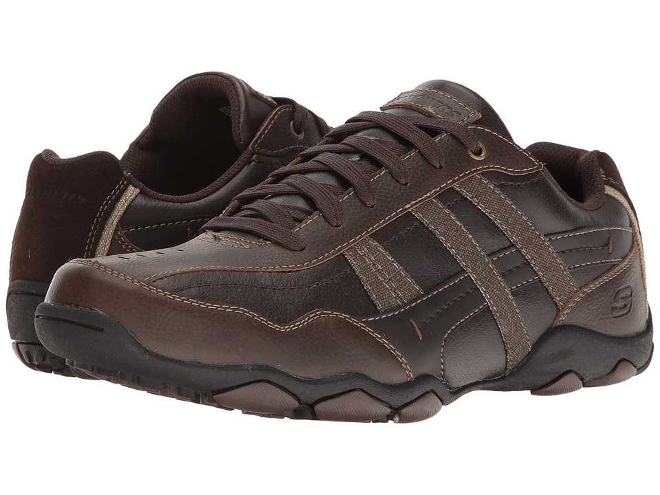 SKECHERS - Classic Fit Diameter - Herson (Dark Brown Leather) Men's Shoes