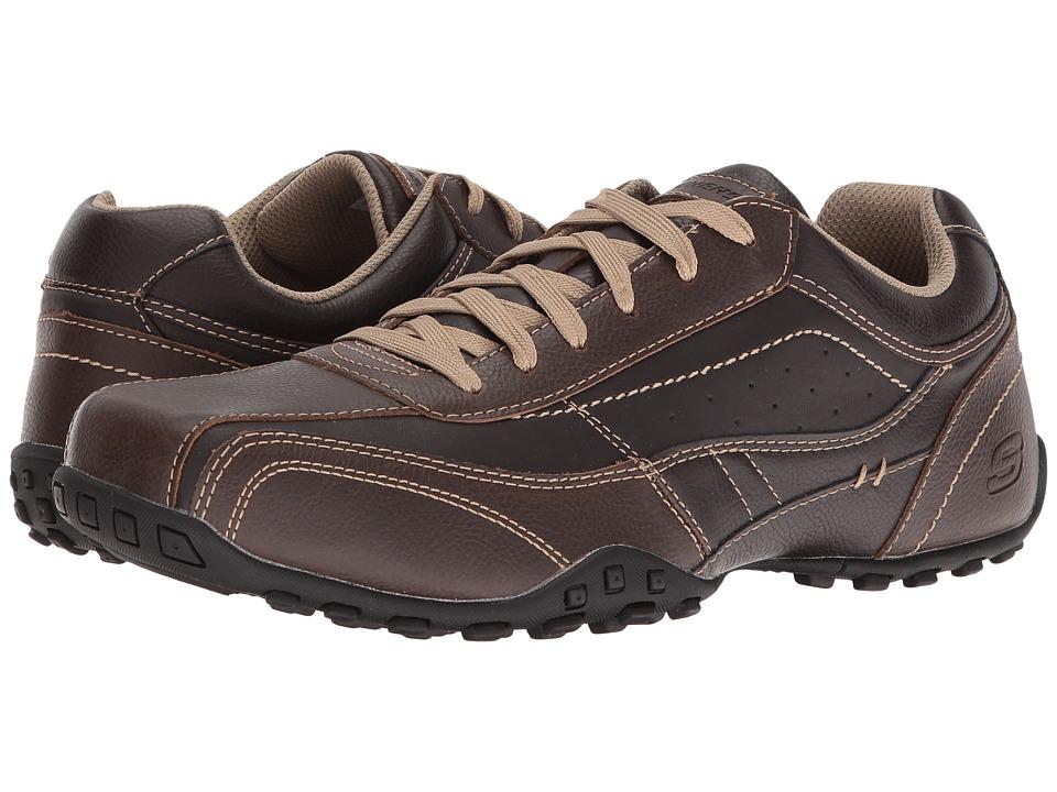 SKECHERS Classic Fit Citywalk Elison (Brown Leather) Men