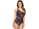 Versace - Costume Intero Printed Maillot One Shoulder One-Piece