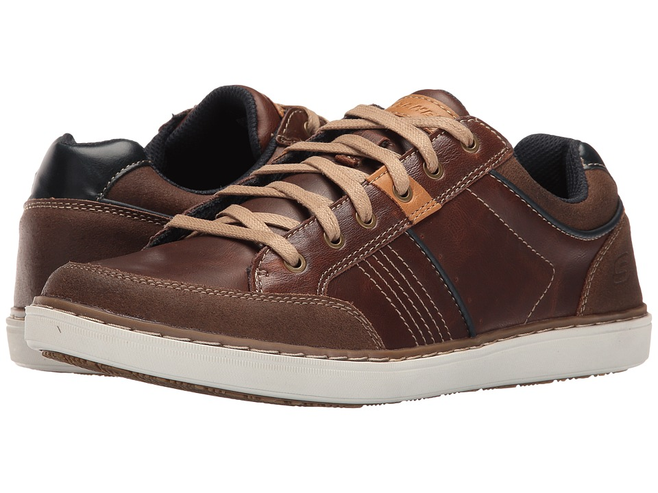 SKECHERS Classic Fit Lanson Rometo (Red Brown Leather) Men