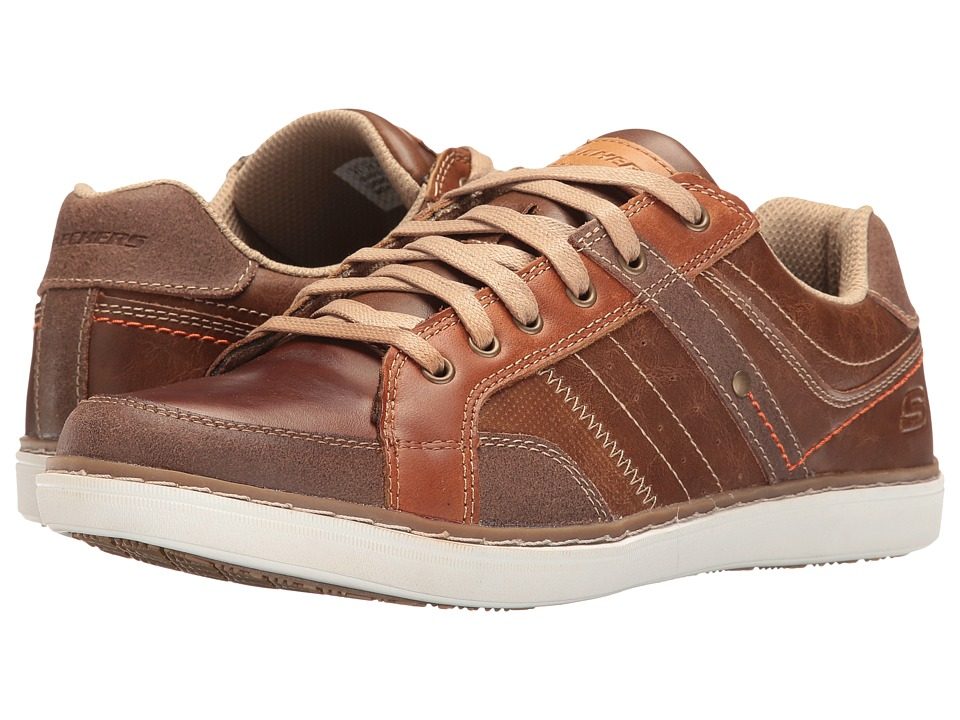 SKECHERS Classic Fit Lanson Torben (Luggage Leather) Men