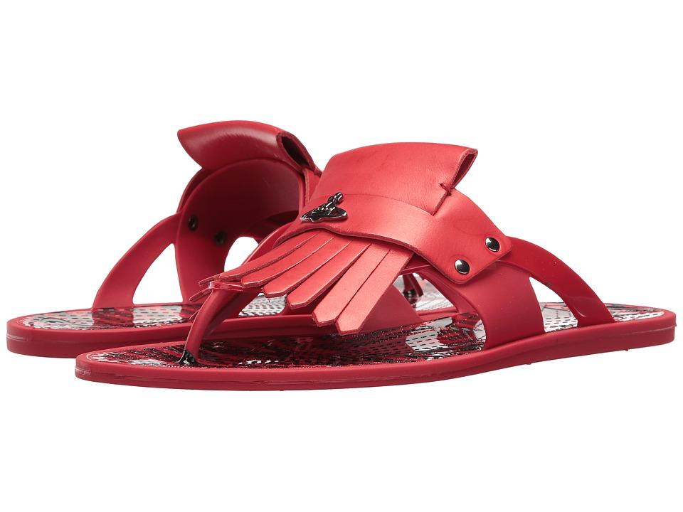 Vivienne Westwood - Plastic Orb Fringe Sandal (Signal Red) Men's Sandals