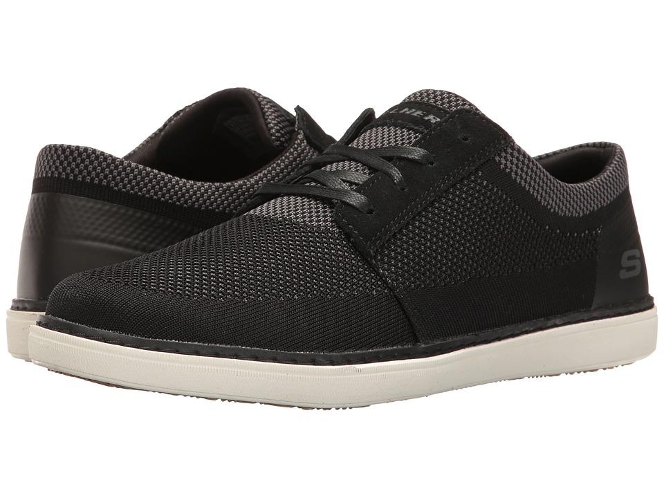 SKECHERS - Classic Fit Selos - Vanorio (Black Knitted Mesh) Men's Shoes