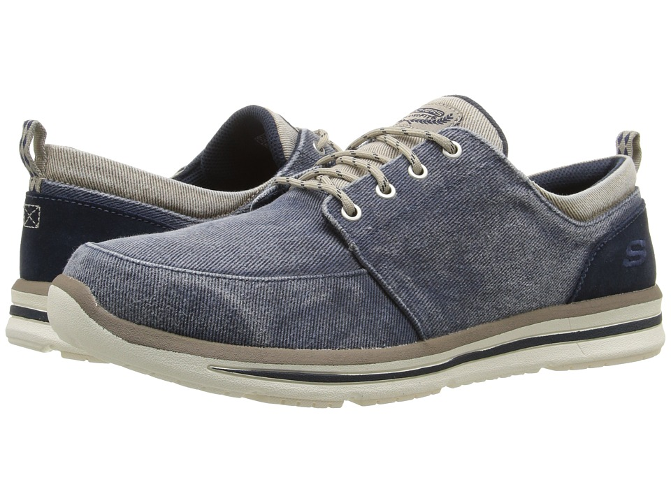 SKECHERS - Relaxed Fit Doren - Alwen (Navy Natural Washed Canvas) Men's Shoes