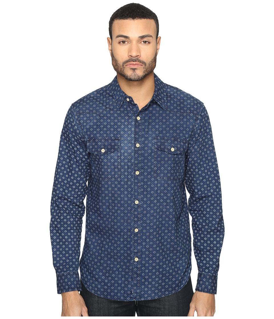 Lucky Brand San Berdu Western Shirt (Indigo) Men