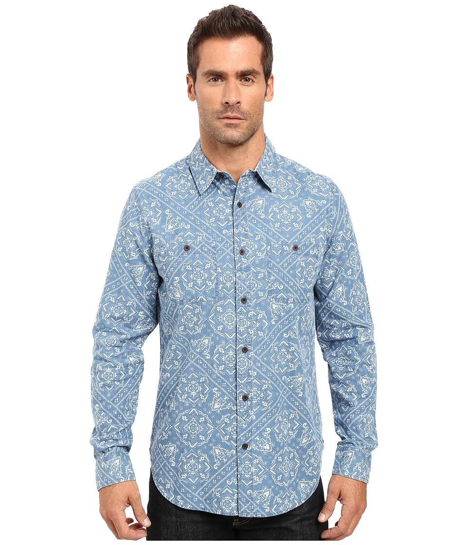Lucky Brand Mason Work Wear Shirt (Navy Bandana Print) Men