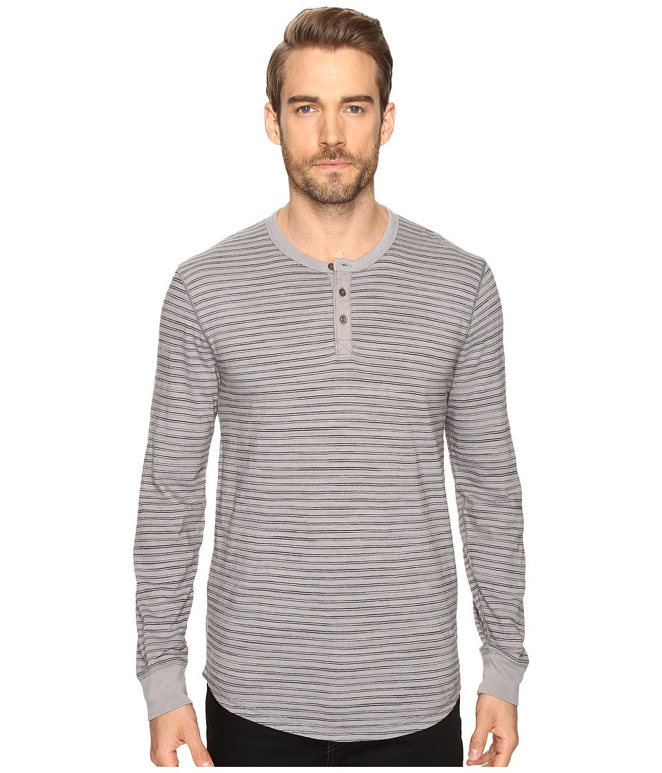 Lucky Brand Lived-In Stripe Henley (Grey Stripe) Men