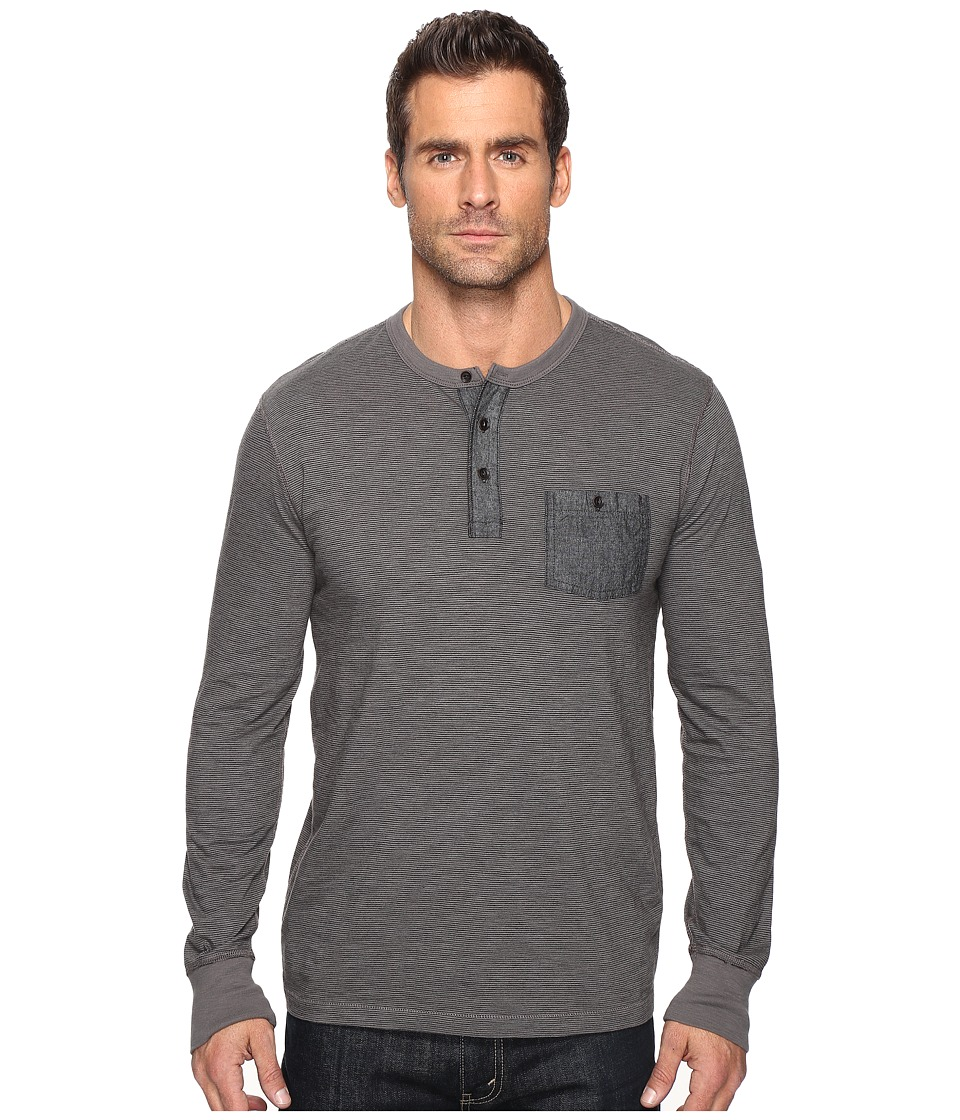 Lucky Brand Surfside Indigo Stripe Henley (Gargoyle) Men