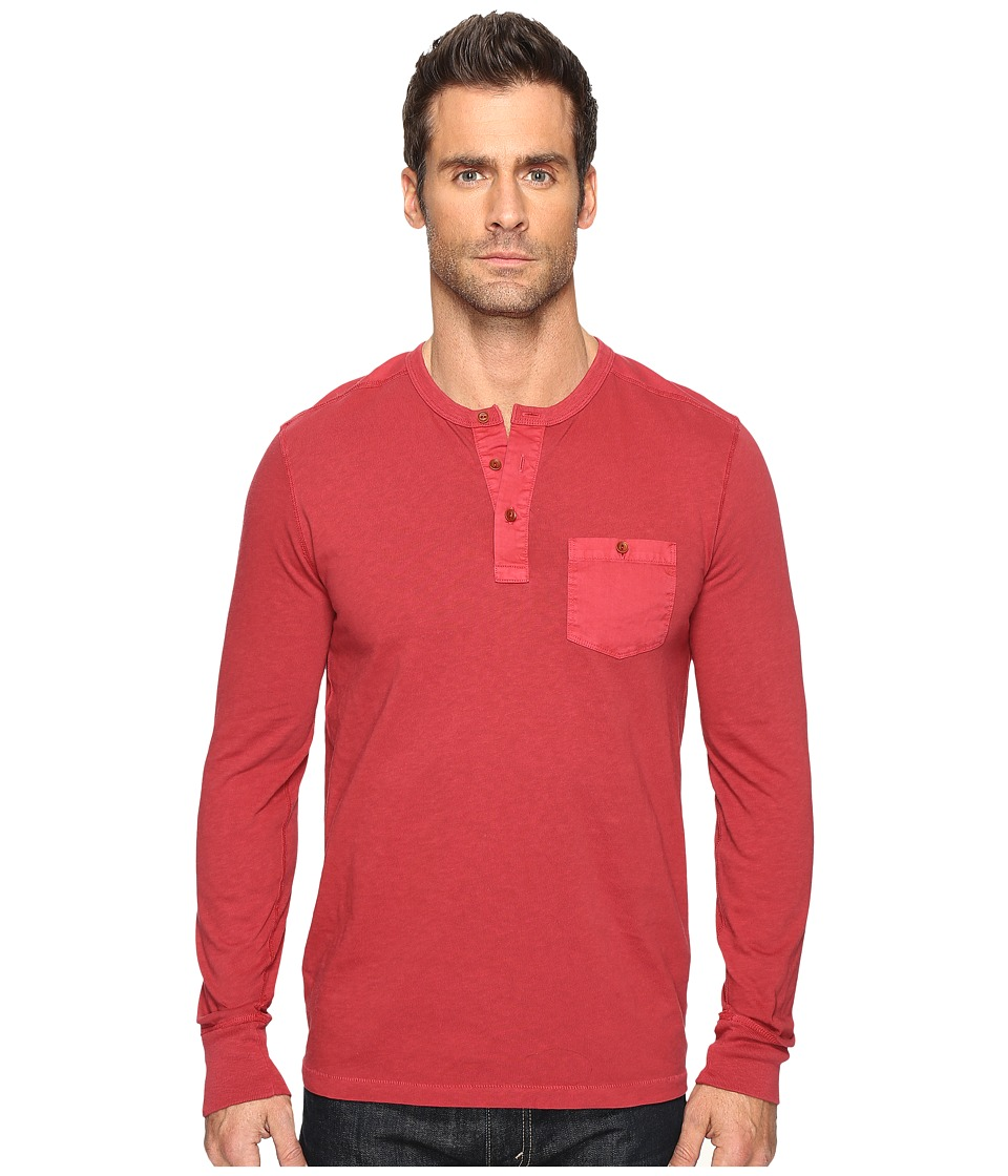 Lucky Brand Surfside Henley (Biking Red) Men