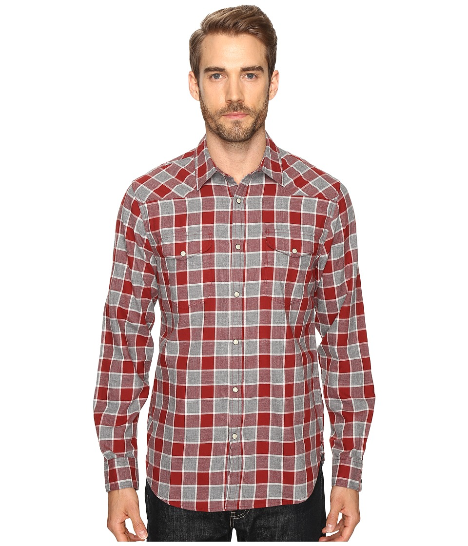 Lucky Brand Santa Fe Western Shirt (Heather Burgundy Natural) Men