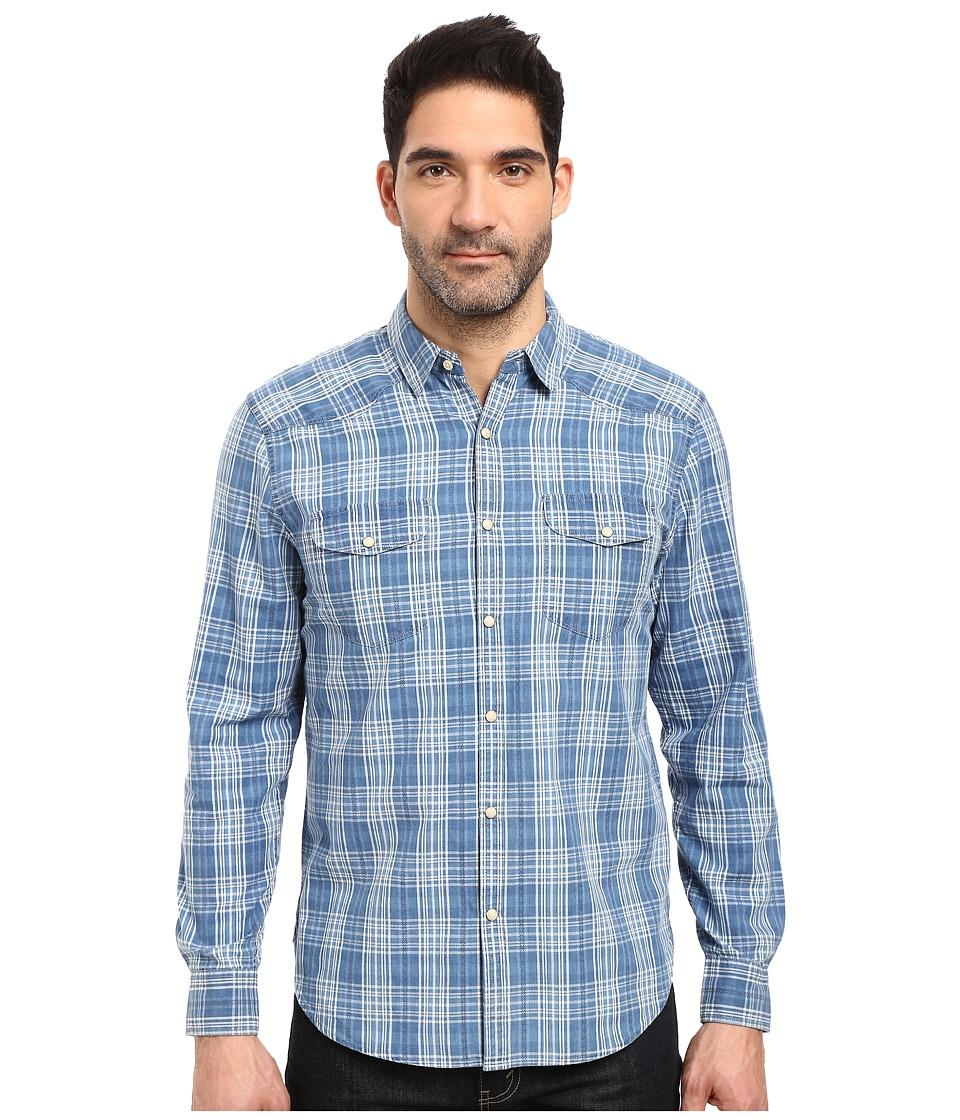 Lucky Brand - Santa Fe Western Shirt (Blue/White) Men's Clothing
