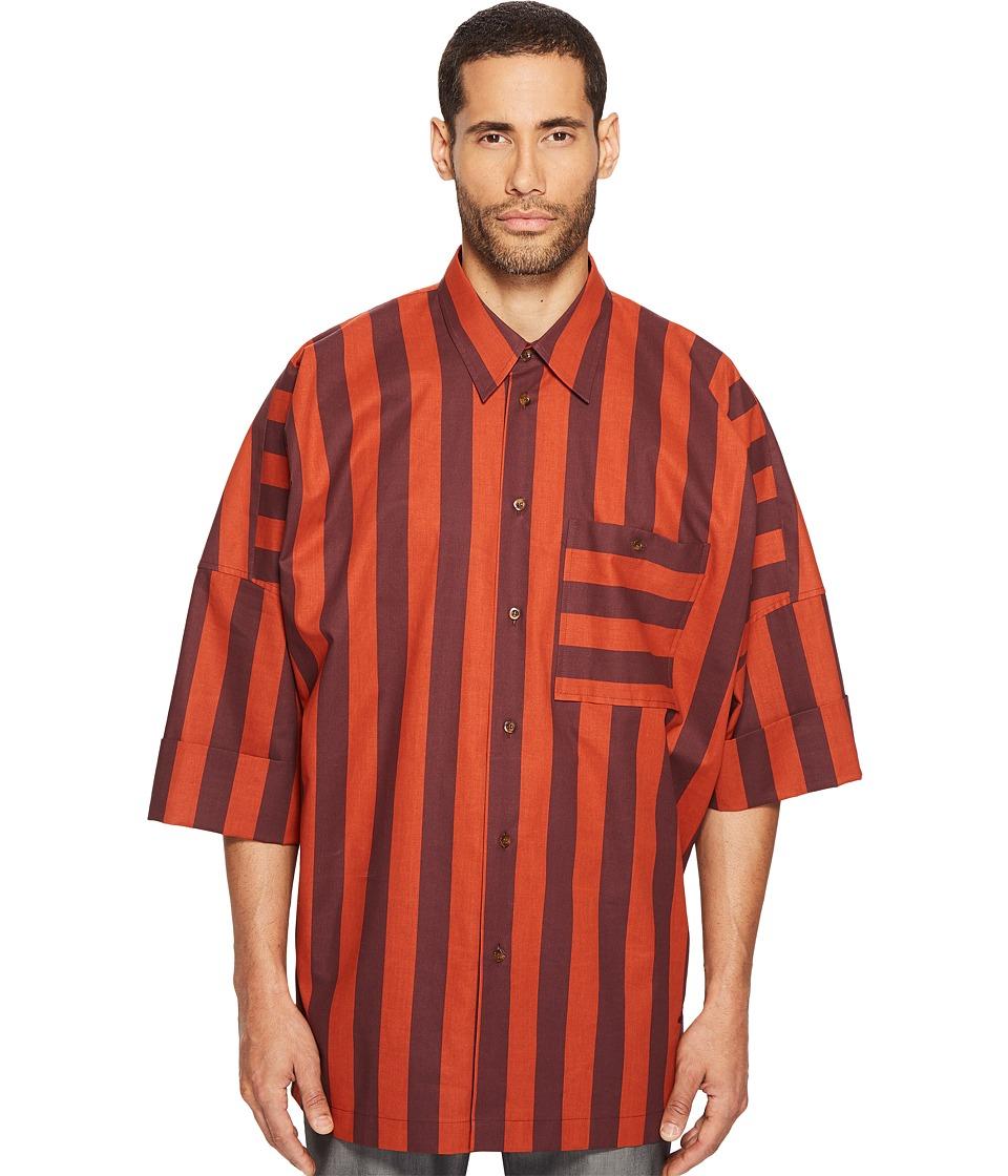 Vivienne Westwood - Striped Freedom Shirt (Orange) Men's Clothing