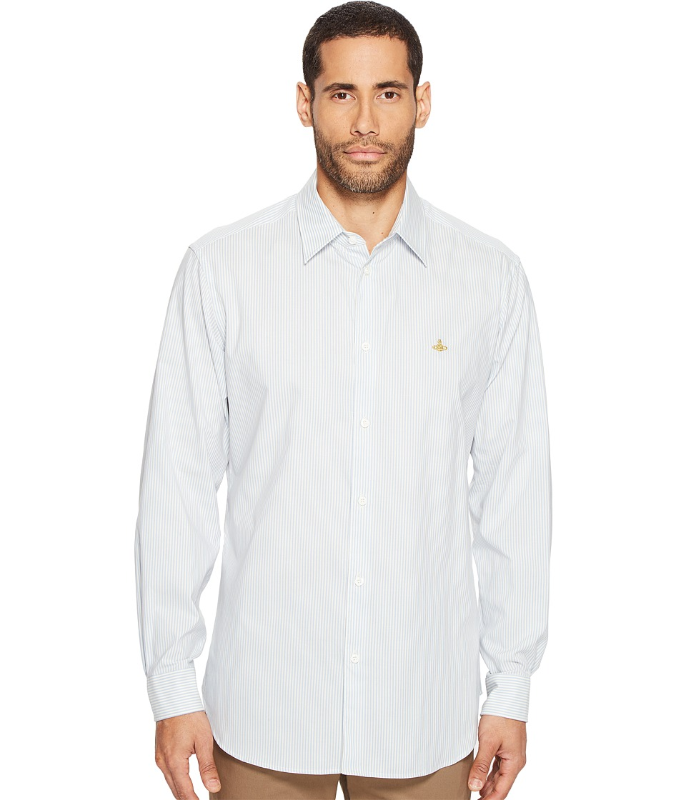Vivienne Westwood - Weekend Stripe Shirt (Light Blue) Men's Clothing