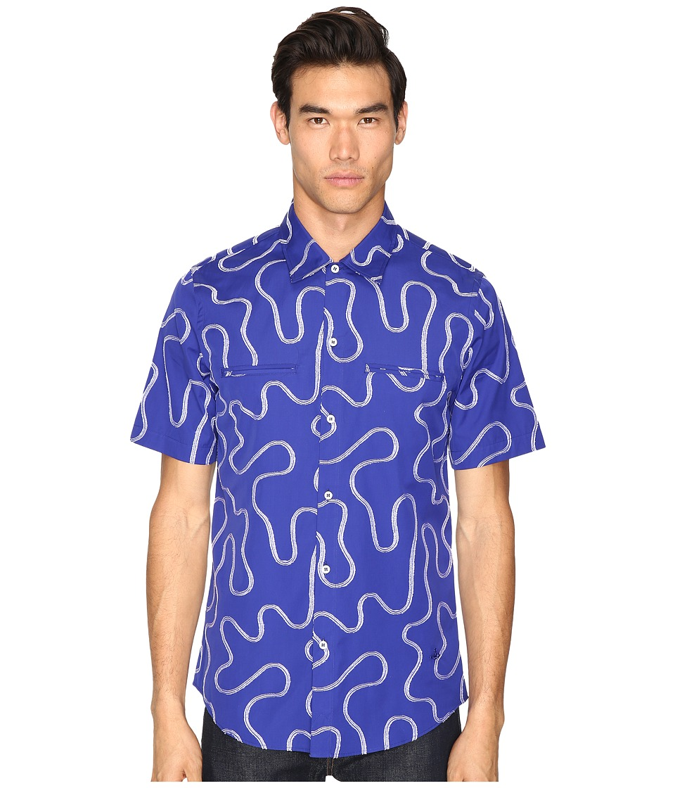 Vivienne Westwood - Squiggle Rattle Shirt (Blue) Men's Clothing