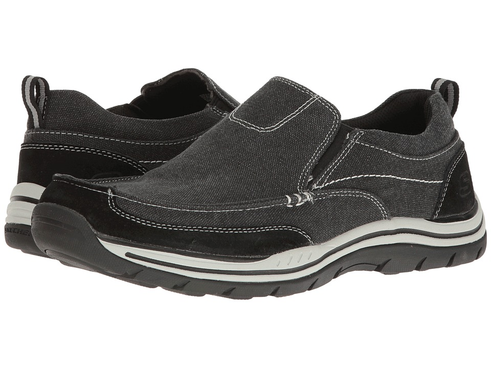 SKECHERS Relaxed Fit Expected Tomen (Black Washed Canvas) Men