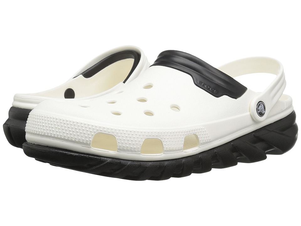 Crocs - Duet Max Clog (White/Black) Clog Shoes