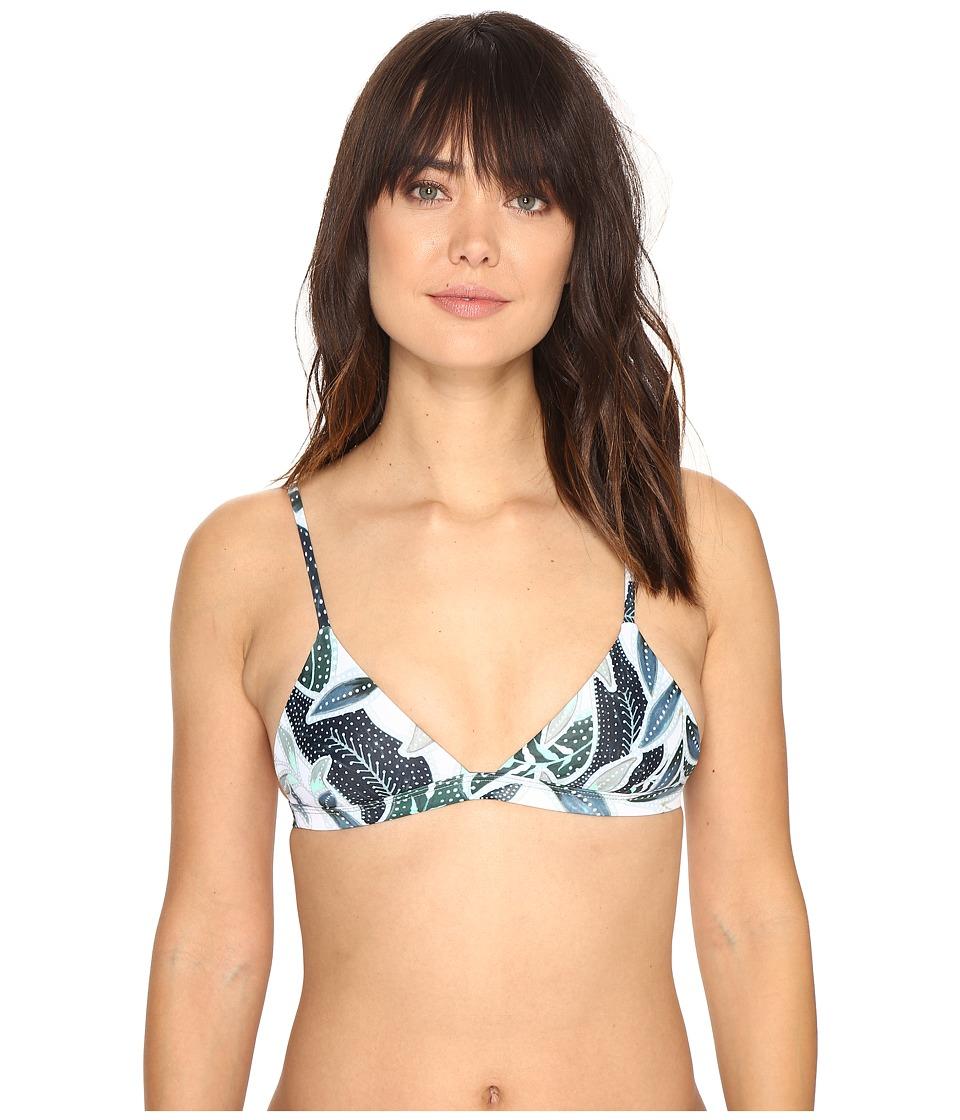 Mara Hoffman Sea Tree Triangle Top Sage Swimwear