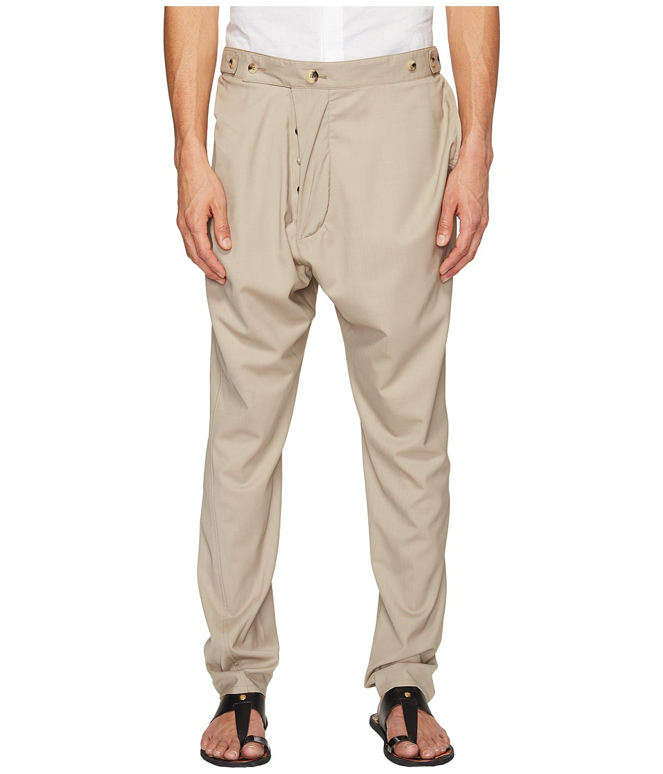Vivienne Westwood - Basic Wool Alcoholic Trousers (Beige) Men's Casual Pants