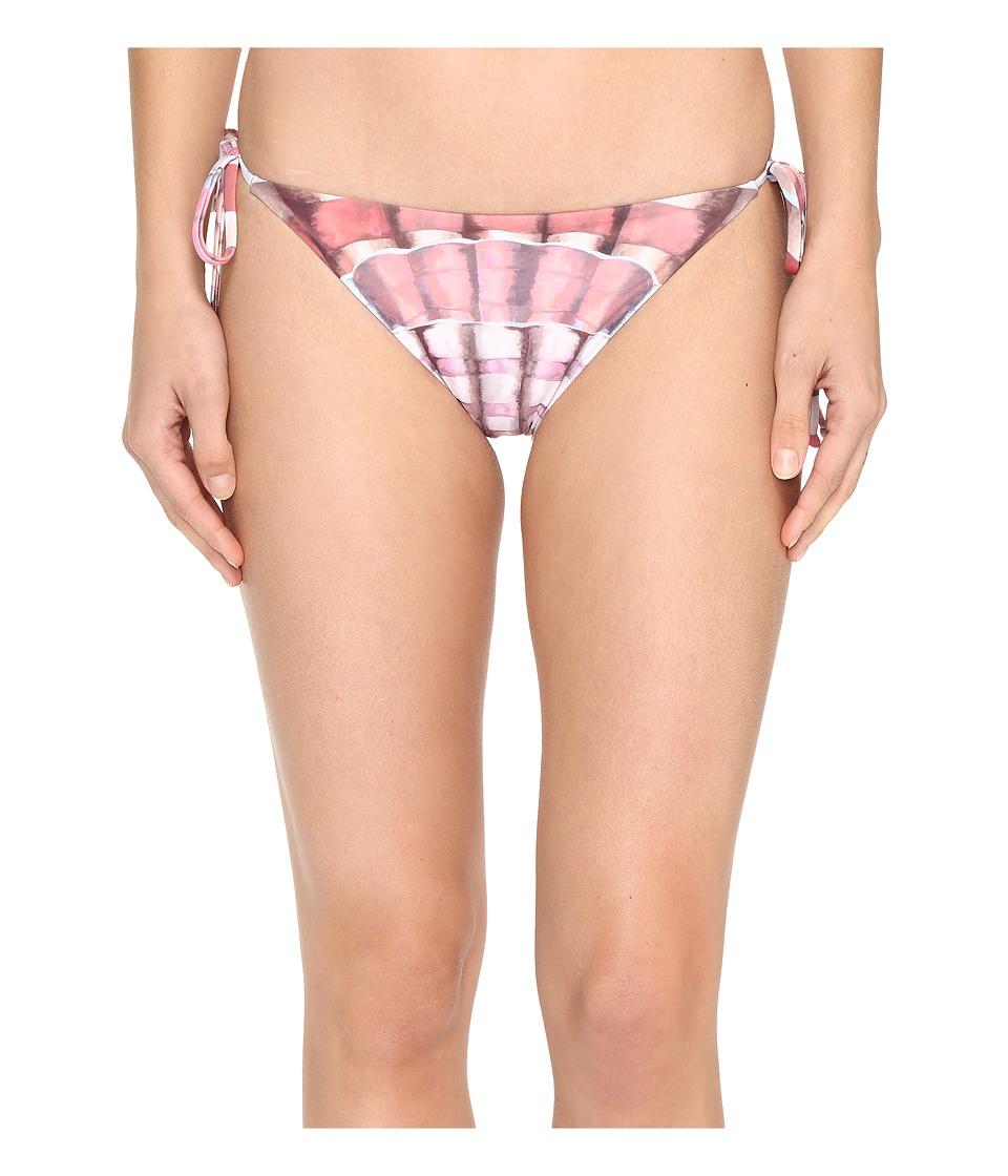 Mara Hoffman Shells Tie Side Bottom Flamingo Swimwear