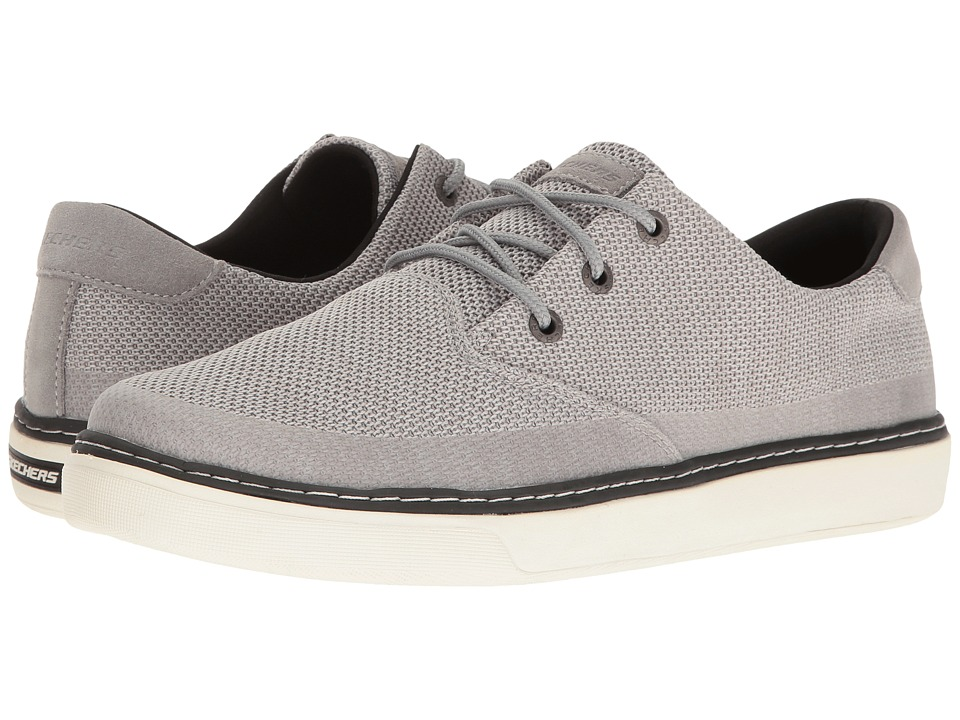 SKECHERS Relaxed Fit Palen Repend (Light Gray Knitted Mesh) Men's Shoes