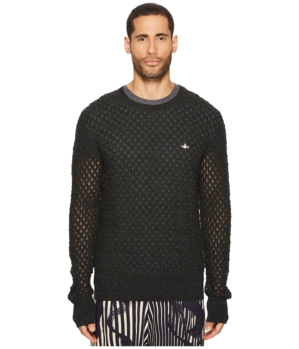 Vivienne Westwood - Fern Knit Crew Neck Sweater (Green) Men's Sweater