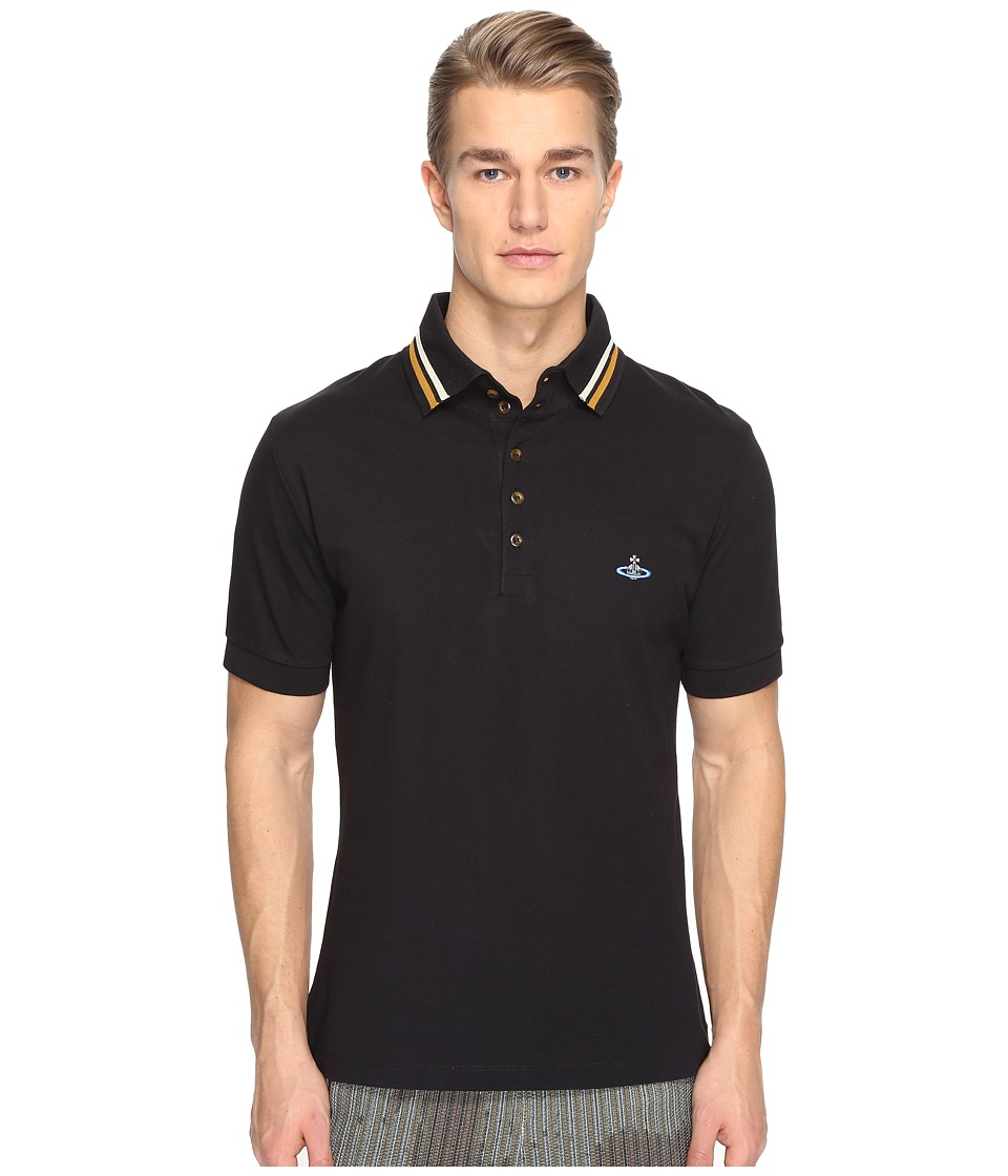 Vivienne Westwood - Krall Piquet Polo (Black) Men's Clothing