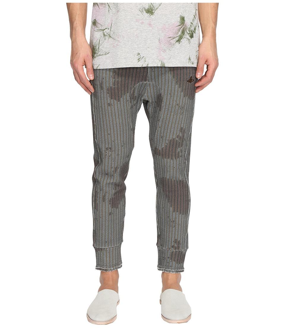 Vivienne Westwood - Ticking Print Sweatpants (Brown) Men's Casual Pants